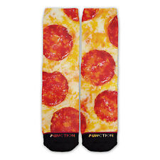 Function - Pepperoni Pizza Sublimated Crew Socks pizza socks pepperoni pizza