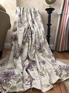 """MTM Honeysuckle Trail Grape Curtains W103"""" (261.5cm) x L85"""" (216cm) Blackout"""