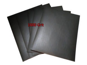 230 x 280mm Wet and Dry Sandpaper Abrasive Waterproof Paper 1000 Grit 5 SHEETS