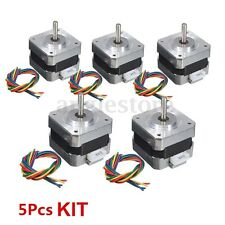 5PCS Kit NEMA 17 Stepper motor 12V For CNC Reprap 3D printer extruder 28Ncm 0.4A