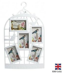 BIRD CAGE Photo Frame Collage Picture Aperture Family Love Wall Hanging Gift UK