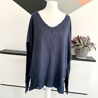 PHASE EIGHT Blue Jumper Size 10 | Smart Casual Warm Loose Fit Wool Blend