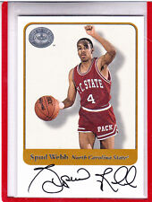 "2001 FLEER GREATS OF THE GAME SPUD WEBB N.C. STATE/ATLANTA HAWKS"" AUTOGRAPH AUTO"