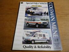 COLEMAN MILNE POLICE, AMBULANCE & SUPPORT VEHICLES  BROCHURE  jm