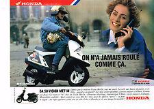 PUBLICITE ADVERTISING 054  1993  HONDA   scooter 50 VISION MET-IN