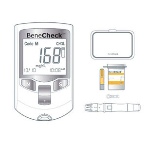 BeneCheck Plus Cholesterol Monitor (with Case, Lancets/Pen, and 10 Strips)