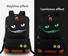 Hot Alice in Wonderland Moive Cheshire Cat Canvas Bag Luminous Backpack