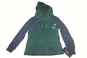 Boys Ralph Lauren Polo Green Blue Plaid Hoodie Pullover Sweater Sz 5 NWT