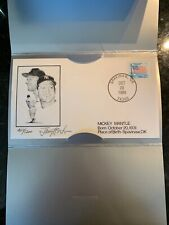 Limited Mickey Mantle Spavinaw OK Birthplace Birthday Postmarked Stamp Signed