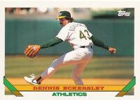 Dennis Eckersley 1993 Topps #155 HOF Oakland A's card