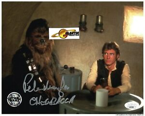 RIP- LAST ONE- Star Wars Official Pix- Peter Mayhew, Chewbacca 8x10 JSA COA