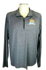 Atlantic Sun Conference Men 's 2Xl, Gray 1/4 Zip Ls Pullover, By Elevate Sport