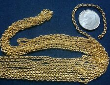 12 ft 3x2mm Yellow gold plated fine cable Link chain strong 12 links inch PCH066