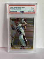 1996 Bowman's Best #147 Terrell Owens Rookie PSA MINT 9