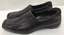 Womens PAUL GREEN Brown Leather Bicycle Toe Loafers Shoes SIZE US 9 EU 40
