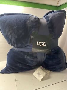 UGG Coco Pillows Navy blue square . New w/ Tag. Set comes with 2 pillows. throw
