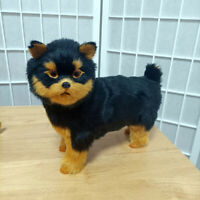 Simulation Realistic Yorkie Dog Plush Toy Puppy Lifelike Stuffed Animal Doll