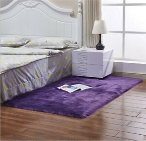 Large Faux Fur Sheepskin Rug Soft Chair Seat Cover Non Slip Fluffy Carpet Mats