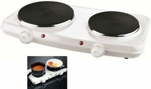 2000W DOUBLE HOT PLATE TABLE TOP PORTABLE ELECTRIC TWIN HOTPLATE NEW