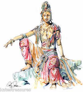 QuanYin Bodhisattva 2 print from an original by Cathy Johnson Chinese art