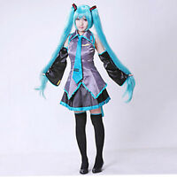 Hatsune Miku Clothing Cosplay Formula Halloween Costume Game Japanese Mid Dress