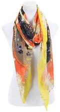Gil * Schal / Stola XL 175x90cm* Koralle-Schwarz* Polyester kuschelweich * NEU