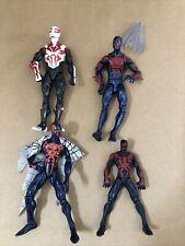 "Marvel Legends Spiderman 2099 Lot Of 4 Figures 6"" Hasbro"