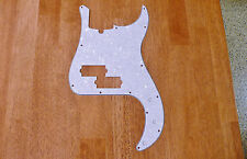 PICKGUARD WHITE PEARLOID 4 PLY FOR P BASS / PRECISION BASS