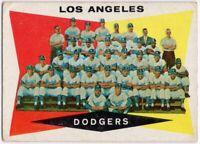 1960 Topps #18 Dodgers Checklist Fair-Good Koufax Drysdale   FREE SHIPPING