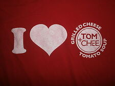 I LOVE HEART TOM & CHEE T SHIRT Grilled Cheese Tomato Soup Restaurant Shark Tank