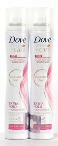 2 Ct Dove 5.5 Oz Style & Care 5 Extra Hold Touchable Compressed Mist Hairspray