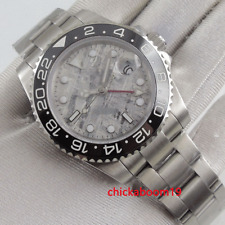 40MM White Dial Ceramic Bezel Sapphire Glass GMT Automatic Movement Men's Watch