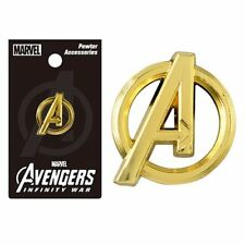 Marvel Comics NEW * Avengers Gold Colored Logo Lapel Pin * Pewter Charm Licensed