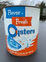 Oyster Can Tin Gal H. ALLEN SMITH OYSTERS CHERITON VA EASTERN SHORE VIRGINIA