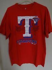 Vintage Majestic 2011 Texas Rangers American League Champions T-Shirt Men Large