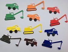 Mini Digger et benne camion die cuts x 12 garçons carte anniversaire toppers