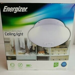 Energizer LED Light Fixture Motion Activated Wireless Battery Powered 300 Lumens