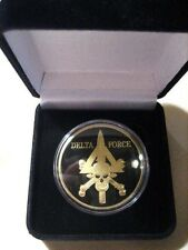 U S ARMY DELTA FORCE Challenge Coin W/ Presentation Box
