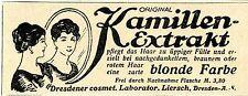 Dresdener cosmet.Laborator.Liersch HAARFÄRBEMITTEL Historische Annonce 1917