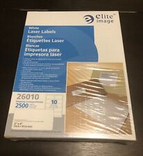 "ELITE IMAGE Laser Labels, Address, 2""x4"", 2500/PK, White (26004)"