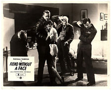 FIEND WITHOUT A FACE ORIGINAL LOBBY CARD HORROR MARSHALL THOMPSON KIM PARKER