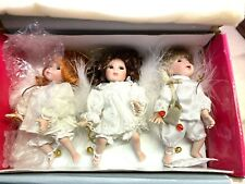 Marie Osmond Heaven Helpers Doll Ornaments Set 3 Nrfb New