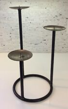 Wrought Iron Candle Holder Fireplace Candelabra Centerpiece Pillar Hearth Side