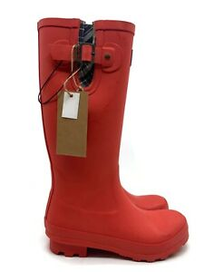 New Womens Pendleton Classic Tall Solid Red Rainboot 62020 PS9401 Size 10