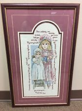 LEISURE ARTS # L647 Completed Finished Framed CROSS STITCH MY LITTLE GIRL
