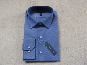 Van Heusen Studio Business Long Sleeve Shirt Blue  W44