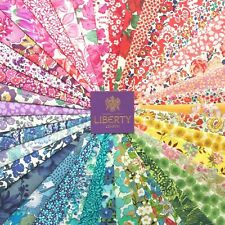 "40 Liberty Tana lawn fabric pieces, each minimum 5"" x 5"" - *RAINBOW  #10*"