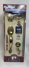 Kwikset Polished Brass Sonoma Lido Lever Door Handle Set Single Cylinder NEW