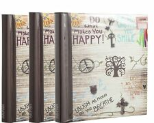 Deluxe 3 Self Adhesive Large Photo Albums Totaling 60 Pages 120/Sides AL-9565PK3