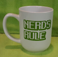 Geeky Retro 8 Bit Video Gaming Gamer NERDS RULE - Coffee Cup Mug